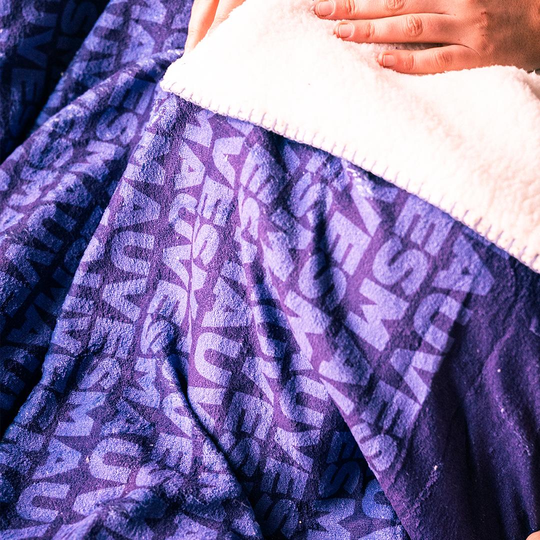 Fleece deken - Mauves Patroon