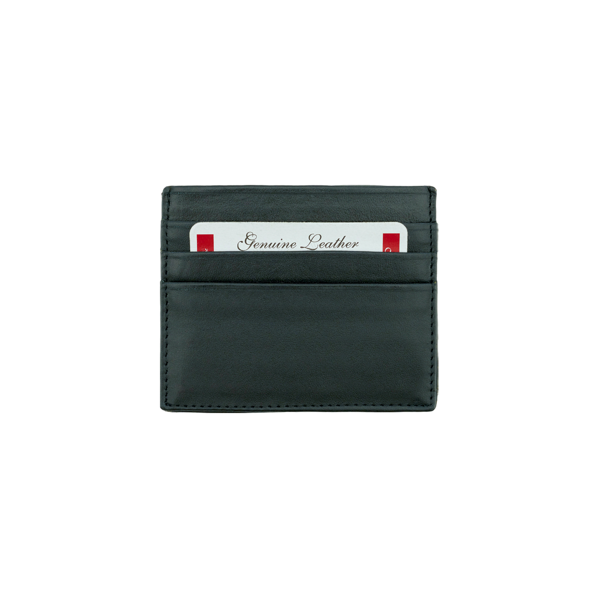 Leather Card Holder - Black