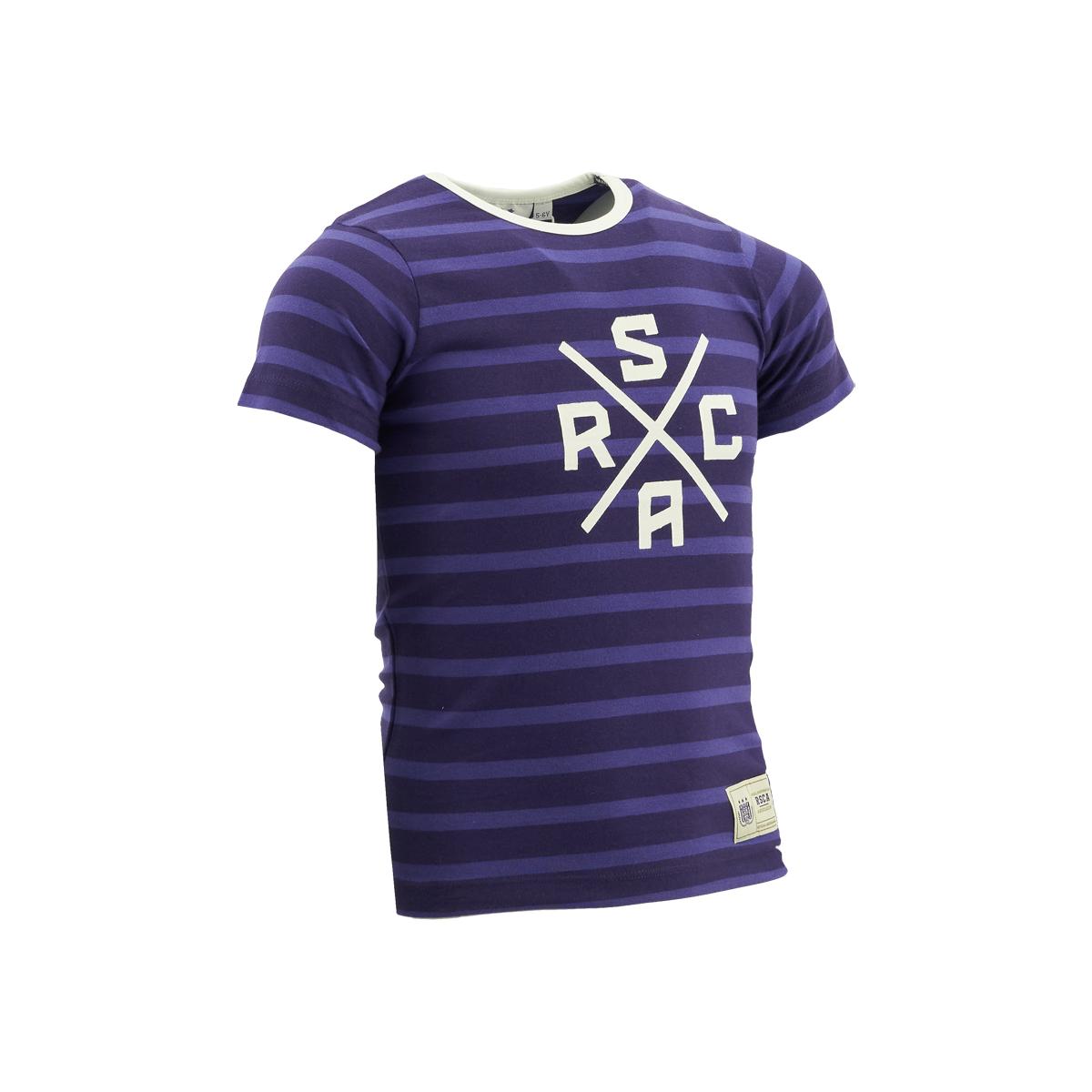 RSCA T-Shirt Baby Logo X Gestreept