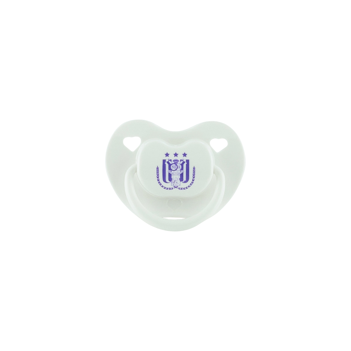 Fopspeen Logo Paars/wit