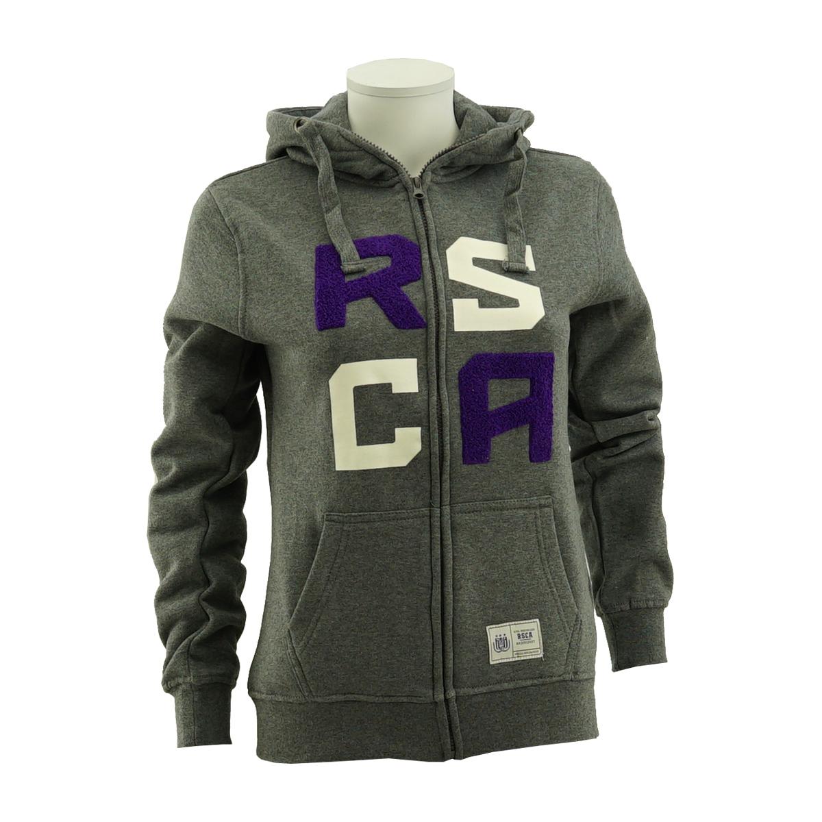 RSCA Sweatvest Met Kap Dames Terry Letters