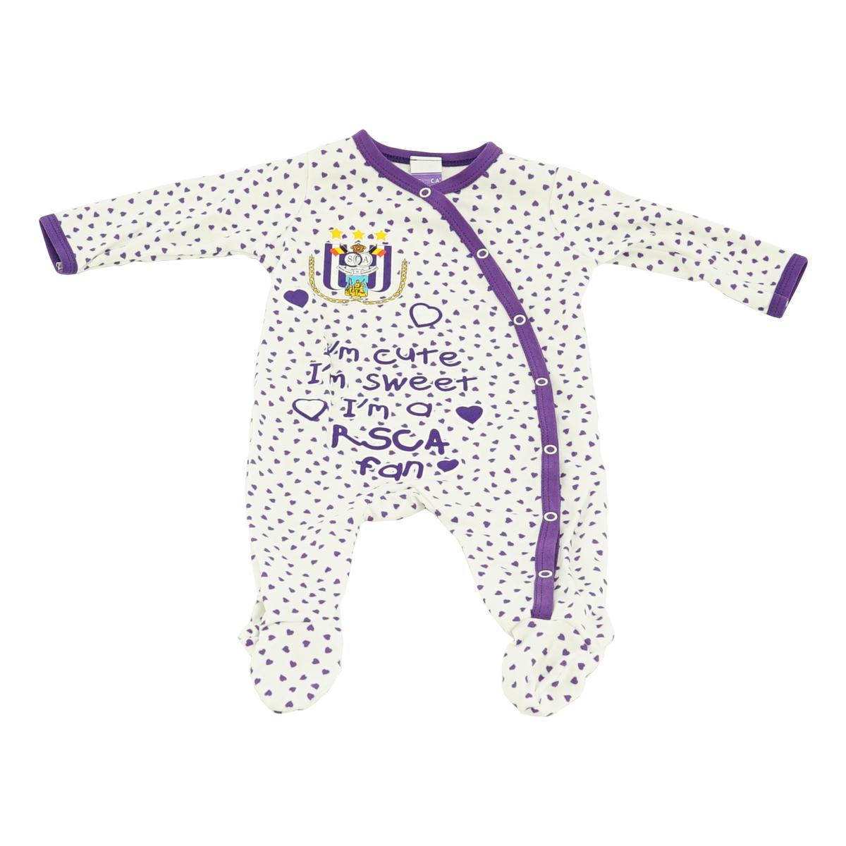 RSCA Pyjama Baby I'm cute, I'm sweet, I'm a RSCA Fan